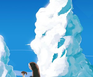 chihiro, clouds, and sky image