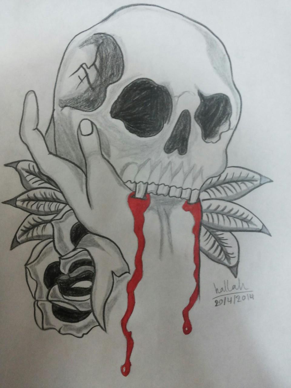كيفية رسم جمجمة طرق سهلة