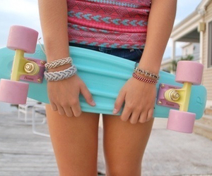 penny board, tumblr, and summer image
