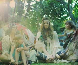 girl, hippie, and hippies image