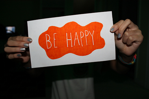 be happy, happy, and text image