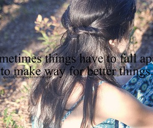 girl, letters, and quote image