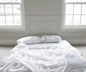 bed, white, and bedroom image