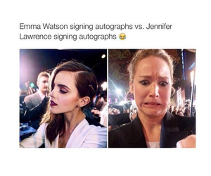 emma watson, Jennifer Lawrence, and autograph image