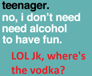 vodka, teenager, and alcohol image