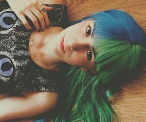 hair, green, and miranda ibañez image