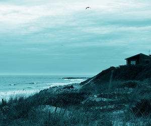 beach, house, and photography image