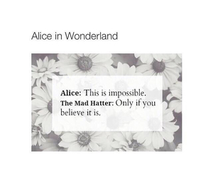 quote, alice, and alice in wonderland image