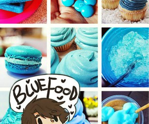 percy jackson, blue food, and blue image