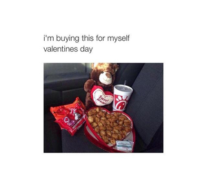 myself, valentines day, and me image