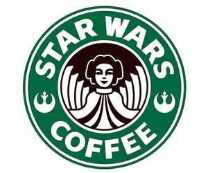 coffee, star wars, and starbucks image