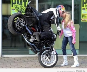 kiss, funny, and motorcycle image