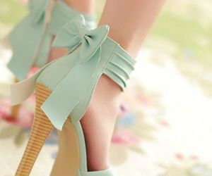 bows, heels, and shoes image