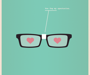 love, glasses, and nerd image