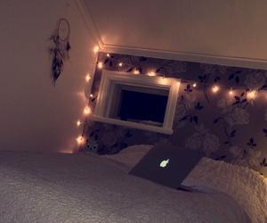 bed, cozy, and dream catcher image