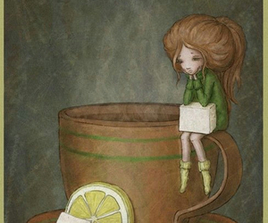 girl, lemon, and sugar image
