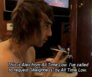 all time low, alex gaskarth, and weightless image
