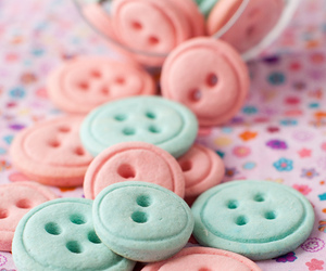 buttons, pink, and Cookies image