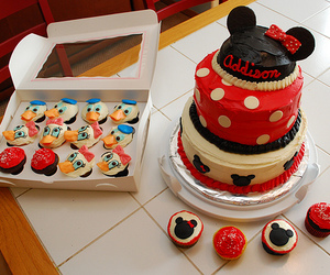 cake, disney, and food image