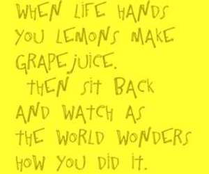 quote, lemons, and funny image