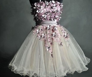 dress, white, and purple image