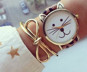 beautiful, watch, and cat image