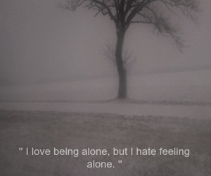 alone, love, and dark image