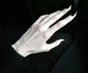 black, hand, and pale image