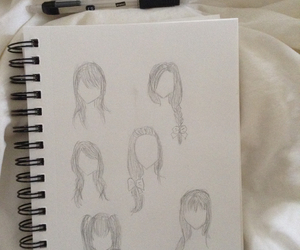 anime, drawing, and hair image