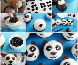 cupcake, panda, and food image