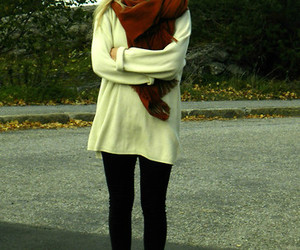 blonde, fall, and oversized image