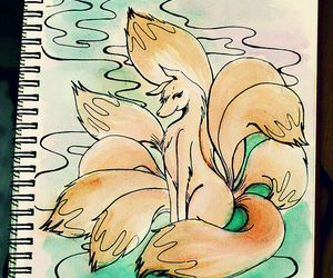 art, monster, and 9 tailed fox image