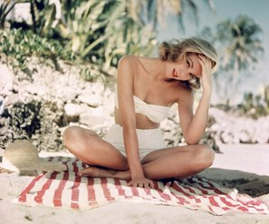 grace kelly, beach, and summer image