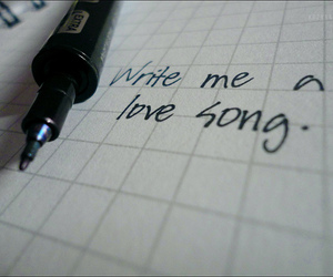 love song, notebook, and quote image