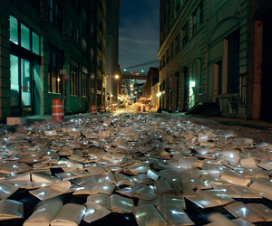 book, light, and street image