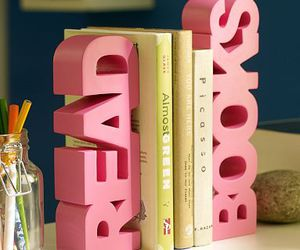 book, pink, and read image