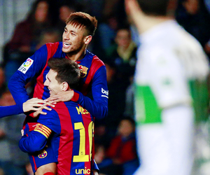 Barca, messi, and neymar image