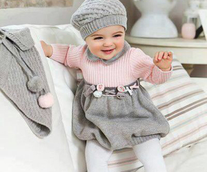 baby, beret, and fashion image