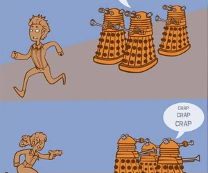 doctor who, daleks, and river song image