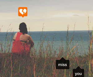 broken heart, miss you, and love image