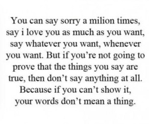quotes, sorry, and words image