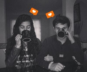 cute, boyfriend, and coffee image