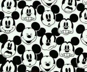 face, mickey mouse, and MM image