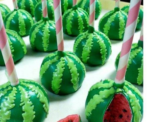 watermelon, sweet, and cake image