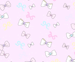 background, bow, and pastel image