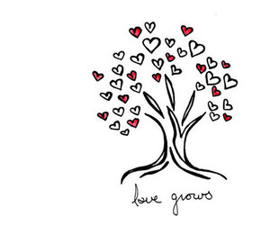 love, drawing, and hearts image
