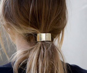 hair, fashion, and gold image