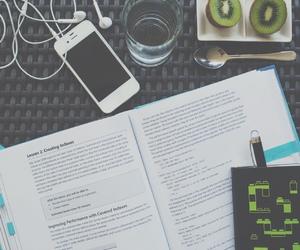 desk, school, and study image