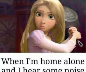 funny, alone, and home image