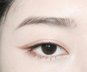 eye, asian, and makeup image